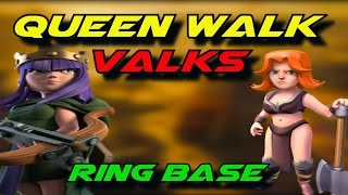 Queen Walk Valks TH10 Ring Bases -- Powerful 3 Star Attacks vs Trophy Bases | Clash of Clans