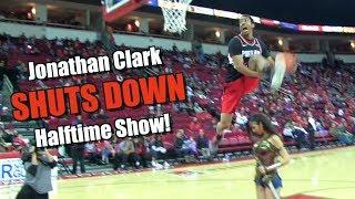 Jonathan Clark SHUTS DOWN Halftime Slam Dunk Show! Video