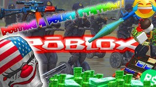 HOW TO EARN 5000 ROBUX QUICK! ROBBING A POLICE STATION!! | Roblox entry point letsplay