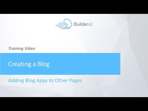 Adding Blog Apps to Other Pages