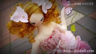 드레스인형만들기KIT 인형소개 바느질 핑크플라워샤워 D…