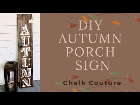 DIY Farmhouse Front Porch Wood Sign - Autumn