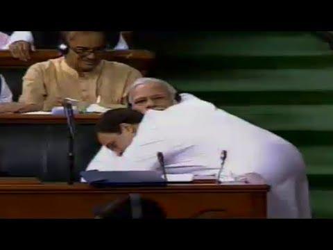Watch: Moment Rahul Gandhi hugs PM Modi in Parliament Mp3