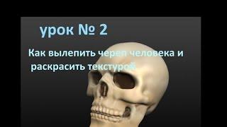 Sculptris - как  слепить череп человека урок № 2