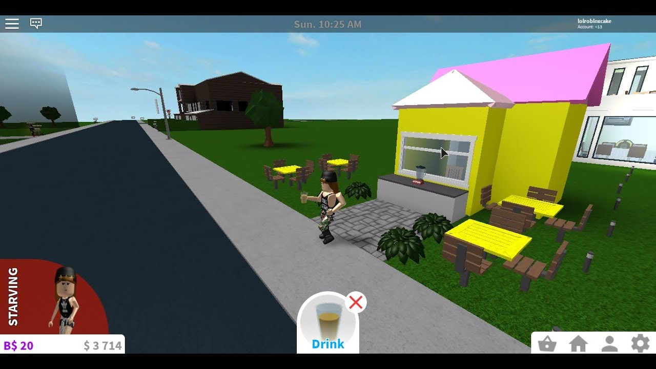 Making A Lemonade Stand In Roblox Bloxburg Youtube