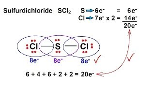 Chemistry - Chemical Bonding (9 of 35) Lewis Structures - Sulfur  Dichloride, SCl2 - YouTubeYouTube
