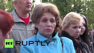 Ukraine: Thousands pay tribute to Odessa massacre victims in Donetsk