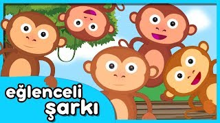 5 Küçük Maymun Yatakta Zıplamış - Sayıları Öğreten Çocuk Şarkısı