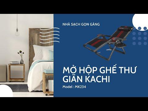 Ghế xếp có Massage tay Kachi MK234 – Kèm khay để ly