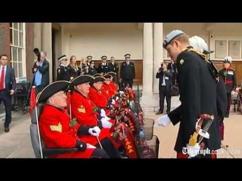 Prince Harry Quizzed By Chelsea Pensioners Over When He Will Marry Chelsy Davey