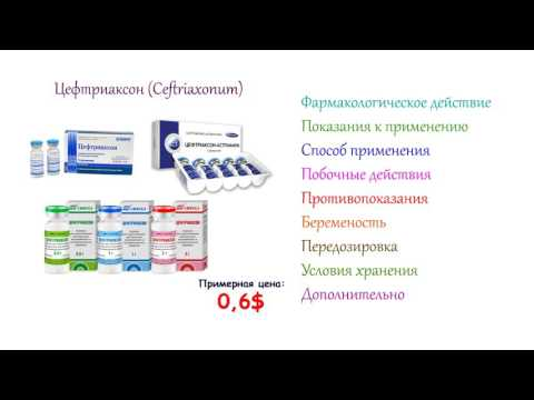 Цефтриаксон - инструкция по применению, противопоказания, условия хранения