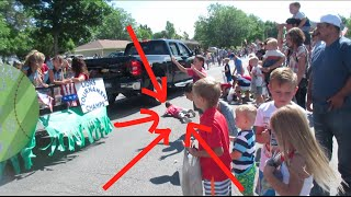 🚷KID ALMOST GETS HIT BY PARADE FLOAT💫! PARADE FAIL | 🎆4TH OF JULY PARADE | DYCHES FAM