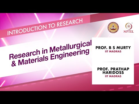 Research in Metallurgical & Materials Engineering