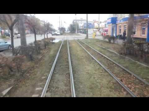 Трамвай Житомир/Zhytomyr, Tatra KT4 tram, real sound