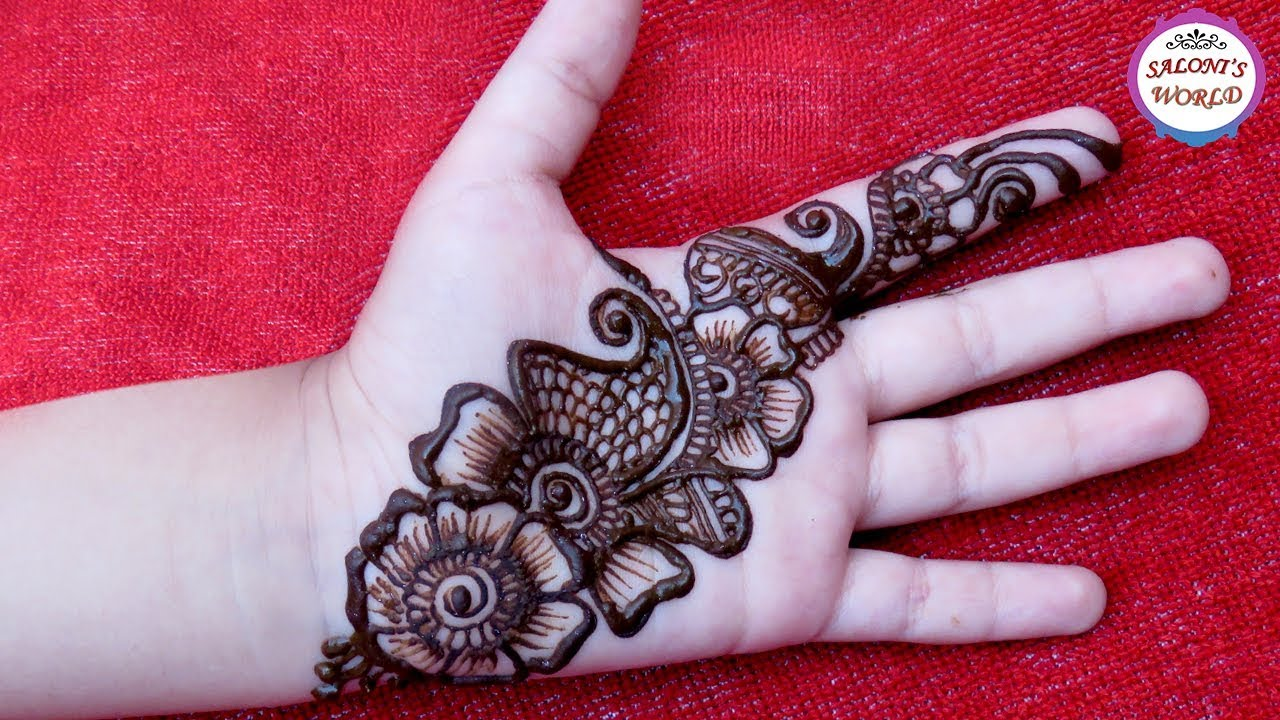 Easy Simple Arabic Henna Easy Mehndi Design For Beginners By Jyoti