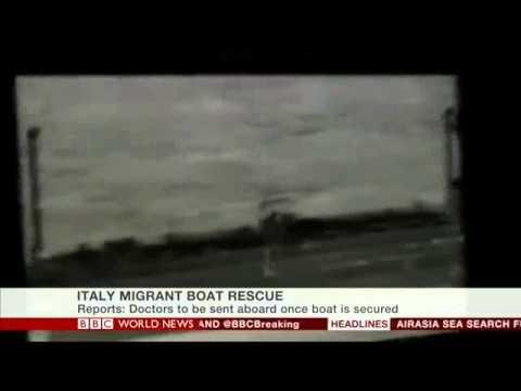 Italy Migrant Boat Rescue - BBC World News -  5 Jan 2015