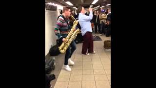 Band in Union Station Subway Stop covering Get Busy (Sean Paul)