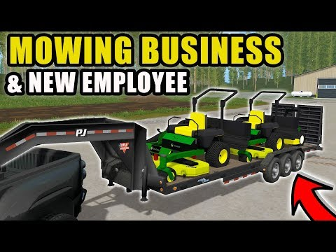 STARTING OUR NEW MOWING BUSINESS! W/ SPENCER TV   FARMING SIMULATOR 2017