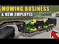 STARTING OUR NEW MOWING BUSINESS! W/ SPENCER TV | FARMING SIMULATOR 2017