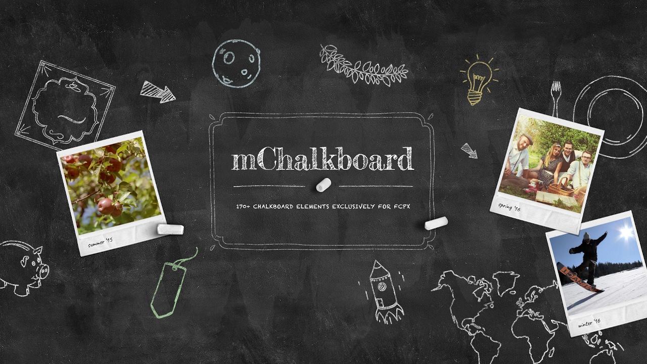 mchalkboard fcpx plugin 170 chalkboard elements built exclusively