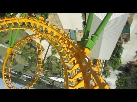 Boomerang front seat on-ride HD POV Wild Adventures
