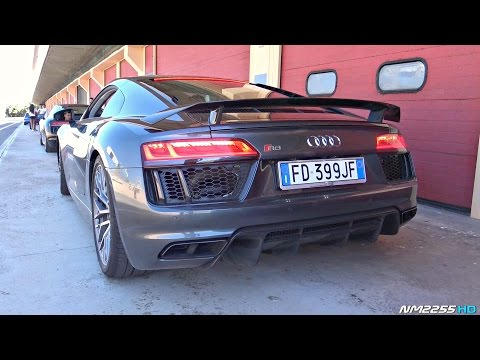 Audi R8 V10 Plus PURE Engine SOUND - Start Up, Revs, OnBoard, POV!