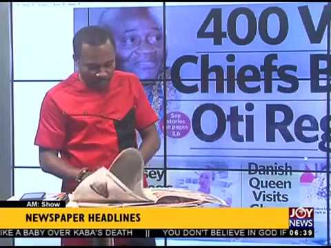 AM Show Newspaper Headlines on JoyNews (23-11-17)