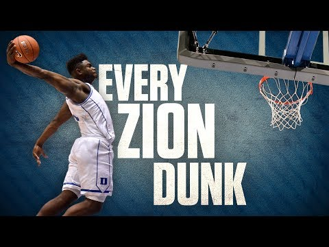 Each of Zion Williamson's 62 dunks from his freshman season at Duke | College Basketball Highlights