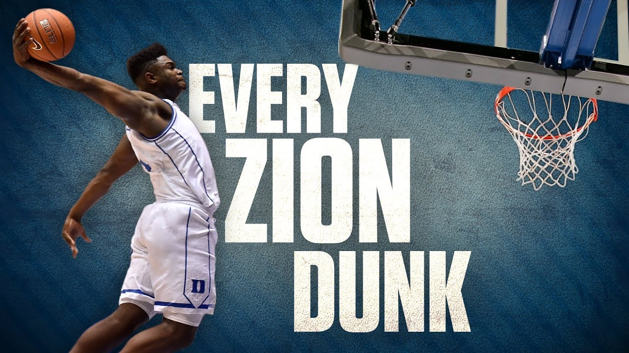Every Zion Williamson dunk from his freshman year at Duke ...