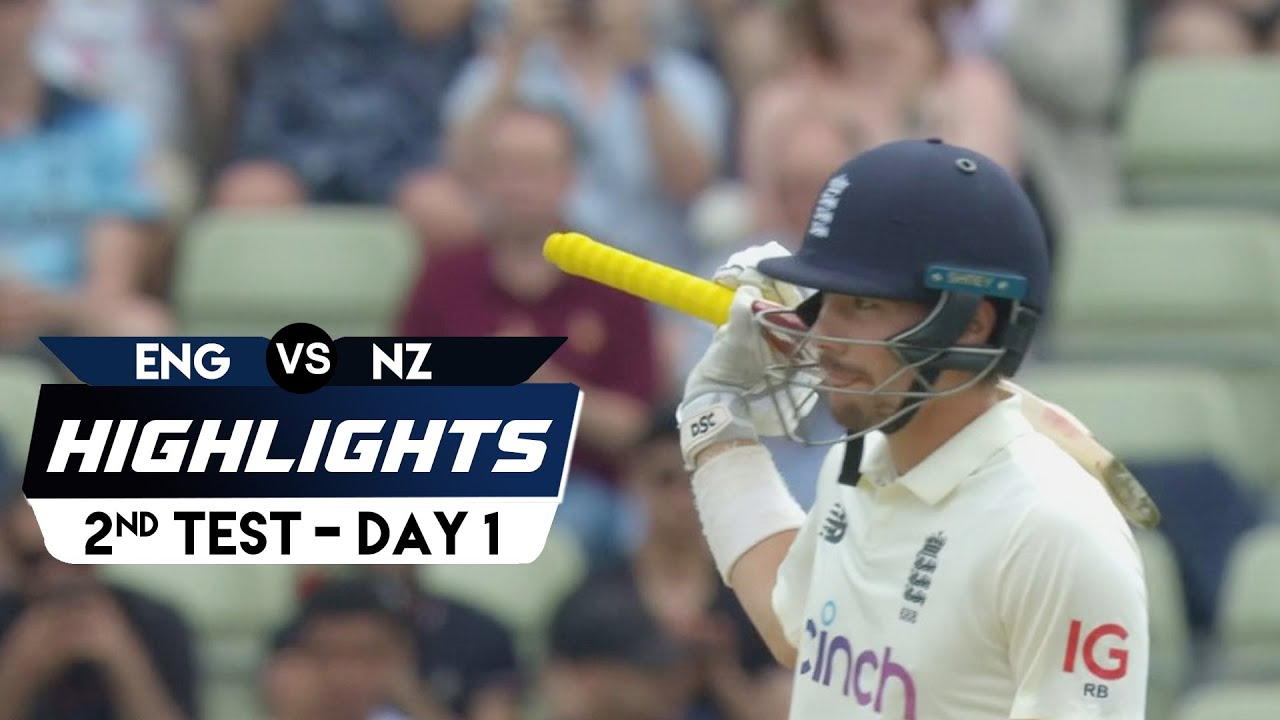 New Zealand Tour Of England 2021 | 2nd Test Day 1 | Highlights | 10th June, 2021