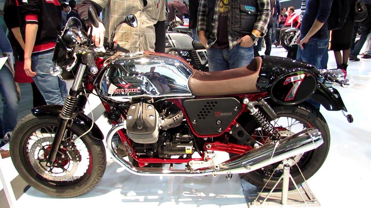 2014 Moto Guzzi V7 Racer Walkaround - 2013 EICMA Milan Motorcycle ...