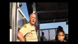 Transit cop tickets young girl and everyone else