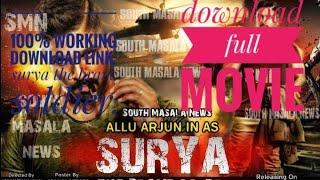 how to download naa peru surya hindi dubbed movie.