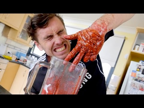 HAND CAUGHT IN BLENDER PRANK!!