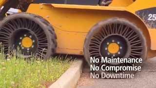 Демонстрация безвоздушных шин Michelin Tweel comparison(Демонстрация уникальных шин Michelin Tweel, возможно, в скором времени такие шины заменят традиционные пневматич..., 2015-01-13T12:22:21.000Z)