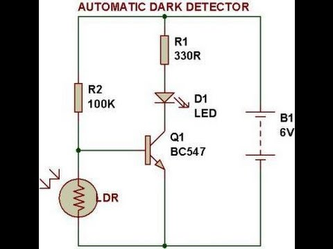 NPN dark sensor - YouTube