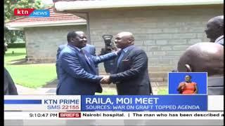 Former Prime Minister Raila Odinga holds private talks with Baringo Senator Gideon Moi