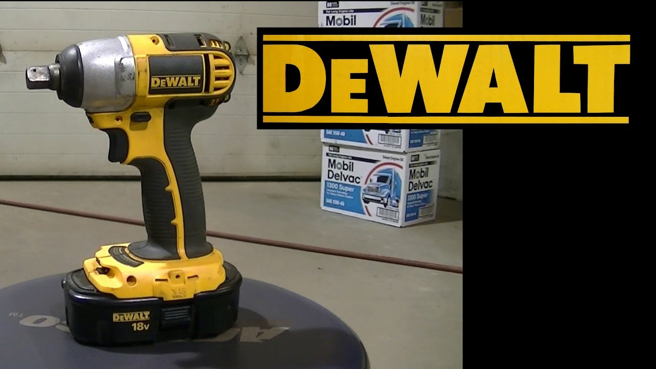 dewalt dc820 1 2 cordless impact 18v review youtube. Black Bedroom Furniture Sets. Home Design Ideas