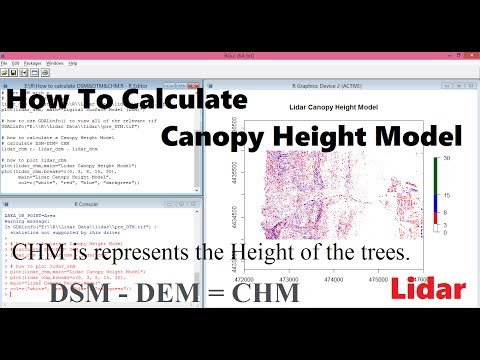 Part2, How to calculate Canopy height model | Canopy height model with Lidar