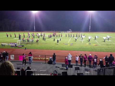 Killingly high school marching band, think pink, open arms