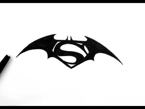 How To Draw Batman Vs Superman Logo