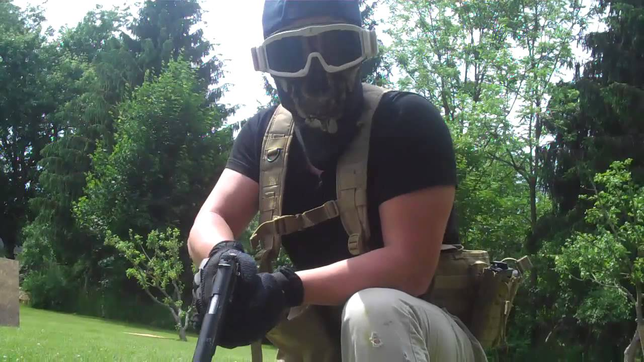 Superb Backyard Airsoft Wars Part - 10: Combative Airsoft Backyard War 6-2-13 #2