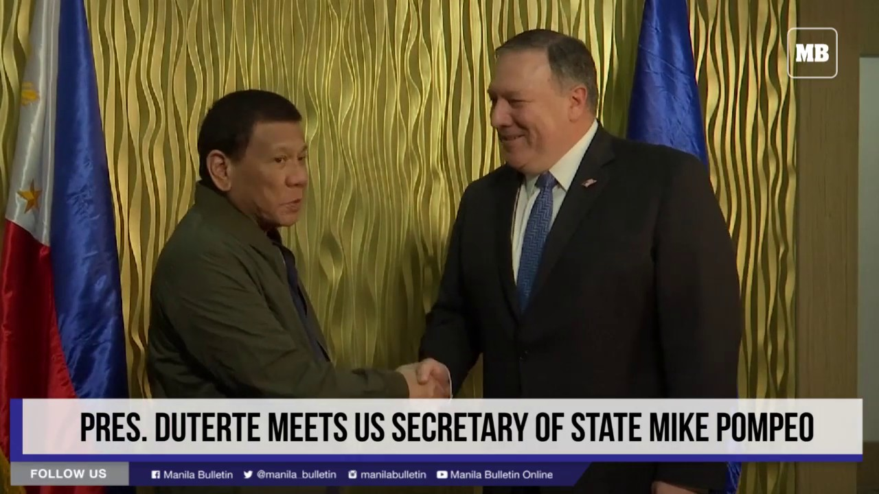 Pres. Duterte meets US Secretary of State Mike Pompeo