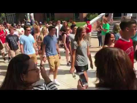 Keene State College's 2017 freshmen walk the 'Appian Way'