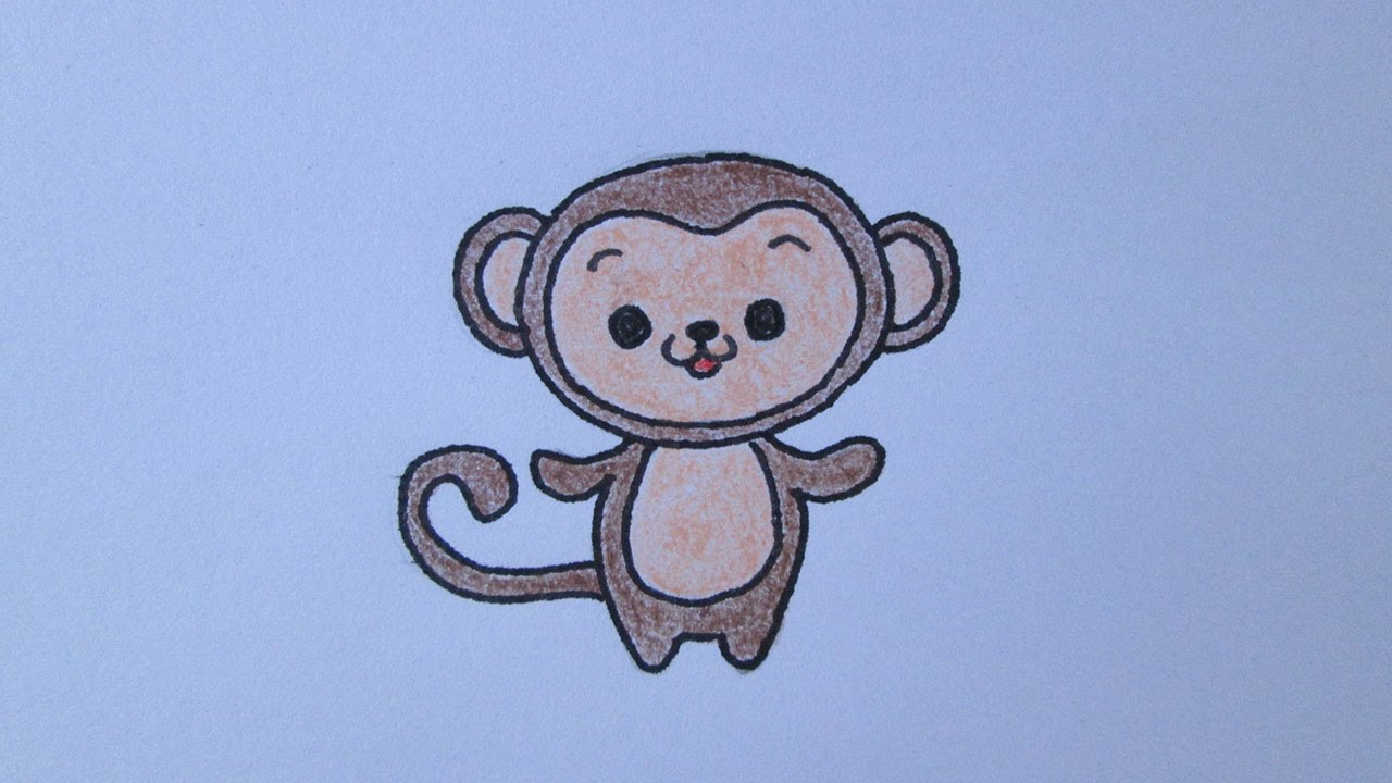 Cómo dibujar un mono - YouTube