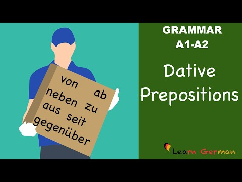 Learn German | German Grammar | Dative prepositions | Präpositionen im Dativ | A1