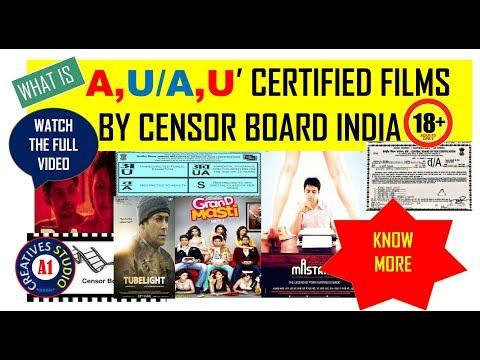 Censor board cut scenes U, U/A, A cinema rating CBFC  for India digital movie making tutorials