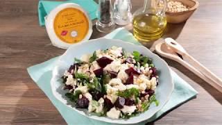 Салат со свеклой, рукколой и кавказским сыром