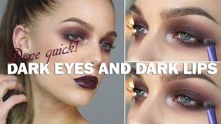 Done Quick - Dark eyes and dark lips - Linda Hallberg makeup tutorials Thumbnail