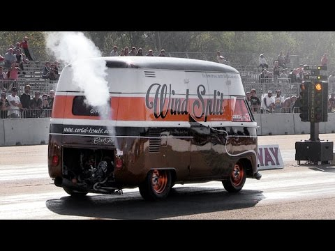 "330bhp w/ NOS 1967 Volkswagen T1 High Top ""Wind Split"" Drag Van"